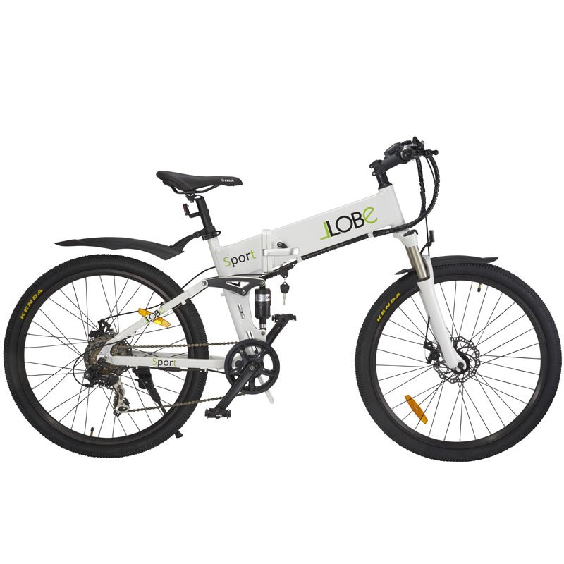 26 faltbares elektro mountainbike llobe sport e bike. Black Bedroom Furniture Sets. Home Design Ideas