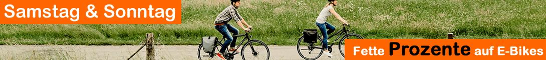 Fette Prozente auf E-Bikes