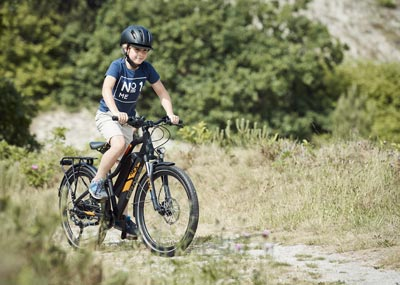 Prophete Kinder eBike unterwegs