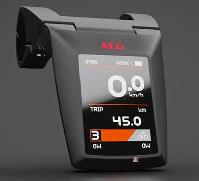 AEG TFT Display im Prophete Top EBike