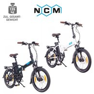 NCM London 20 E-Faltrad E-Bike 36V, 11Ah matt schwarz