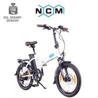 NCM London 20 E-Faltrad E-Bike 36V, 15Ah weiß