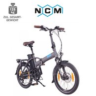 NCM London 20 E-Faltrad E-Bike 36V, 15Ah anthrazit